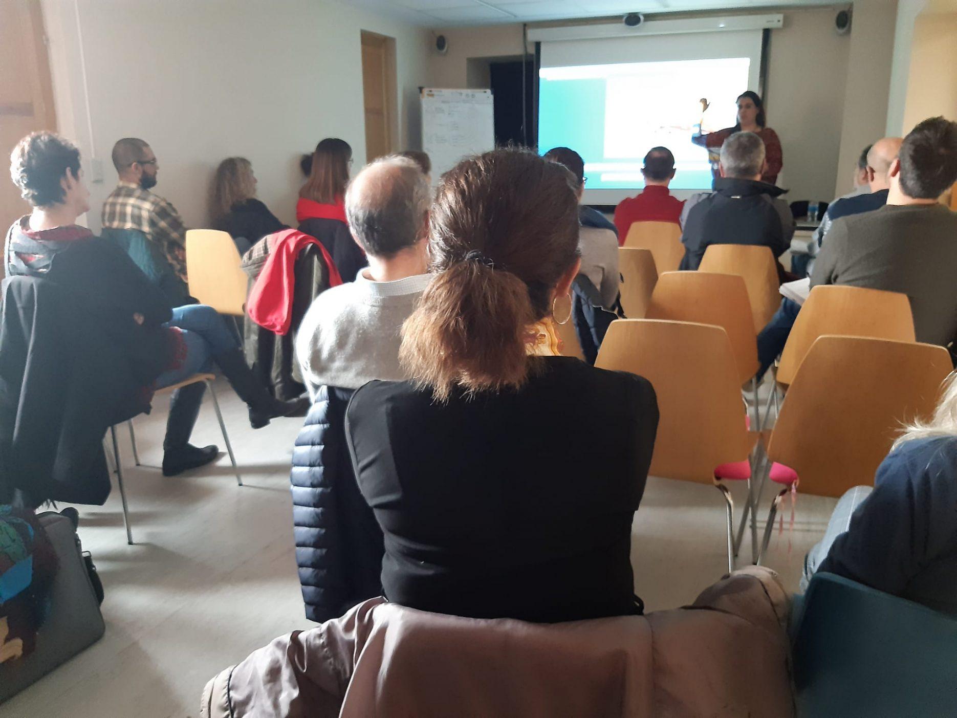 Lidia Marbán en la Meetup de WordPress Torrelodones